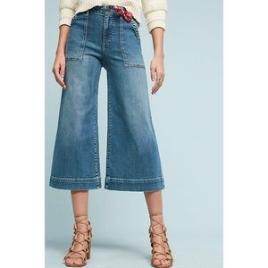 PILCRO & The Letterpress Anthropologie Crop Jeans